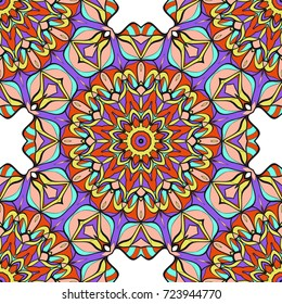 seamless pattern with floral ornament. Creative Vector illustration. for design invitation, background, wallpaper