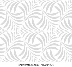 Seamless pattern. Floral stylish background. Grey and white vector ornament. Graphic modern pattern.