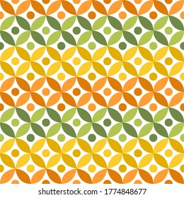 Seamless pattern with flower geometric, vector illustration