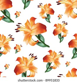 seamless pattern with flower, vector illustration