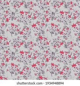 seamless pattern of flowers bells hand-drawn, vector illustrations eps10.
