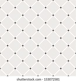 Seamless pattern with flowers. Polka dot print. Stylish vector texture