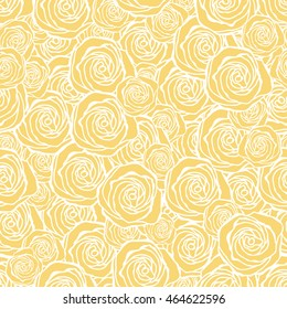 Seamless pattern with flowers roses, vector floral illustration