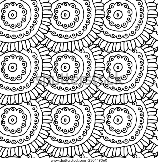Seamless pattern with flowers white 1