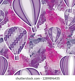 Seamless pattern with flying balloons