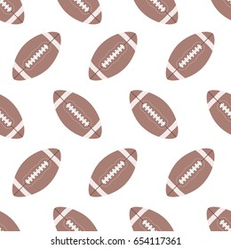 Seamless pattern with football balls. Good for wrapping paper, postcards and promotional products.
