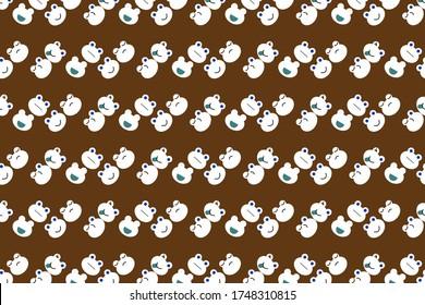 seamless pattern frog faces emojis vector design illustration