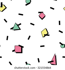 Seamless pattern in geometric 1980's style 1