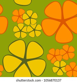 A seamless pattern of geometric colors of two different sizes and two colors.