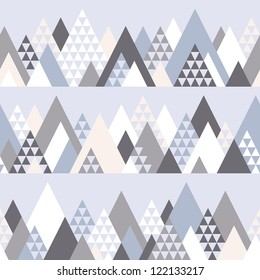 Seamless pattern with geometric mountains #1