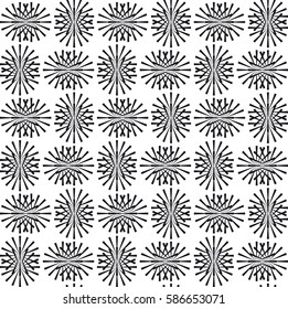 Seamless pattern. Geometric Vector illustration. Repeating background. Black and White