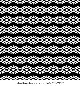 Seamless pattern. Geometrical figures backdrop. Diamonds, angle brackets background. Geometric wallpaper. Shapes motif. Rhombuses, chevrons ornament. Digital paper, textile print, web design. Vector