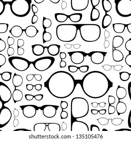 seamless pattern from glasses