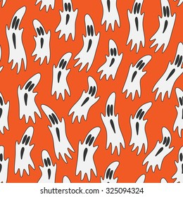 Seamless pattern with gosts for Halloween.
