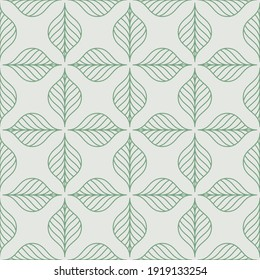 Seamless pattern. Graphic ornament. Floral stylish background. Vector repeating texture with stylized leaves