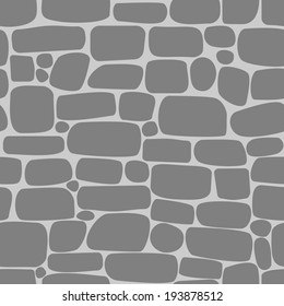 Seamless pattern with gray stones