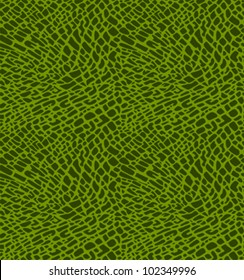 Seamless pattern of green crocodile skin