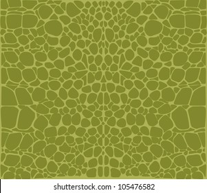 Seamless pattern of green crocodile skin Pattern