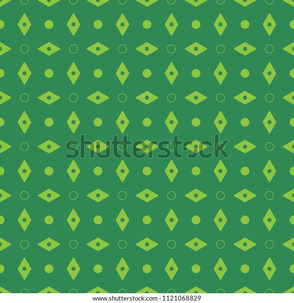 Seamless Pattern Green Diamond Background Vector Stock
