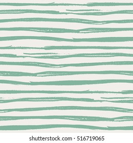 Seamless pattern with green hand drawn lines