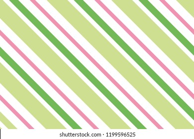 Seamless pattern. Green stripes on white background. Striped diagonal pattern for printing on fabric, paper, wrapping, scrapbooking, websites Background with slanted lines Vector illustration