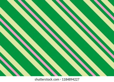 Seamless Pattern Green Stripes Striped Diagonal For Printing On Fabric Paper Wrapping