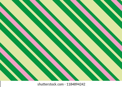 Seamless pattern green stripes. Striped diagonal pattern for printing on fabric, paper, wrapping, scrapbooking, websites Background with slanted lines Vector illustration