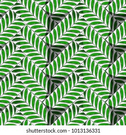 seamless pattern green twill weave with clear lines
