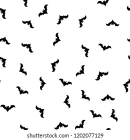 Seamless pattern for Halloween of bats. The Celebration Of Halloween
