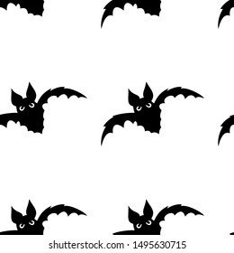 Seamless pattern with halloween pumpkins spider web zombie bat. Can be used for scrapbook digital paper, textile print, page fill. Vector illustration