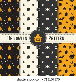 Seamless Pattern Halloween vector. Set.