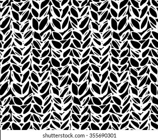 fc515b11b Seamless Pattern Knitting Braids Hand Draw Stock Vector (Royalty ...