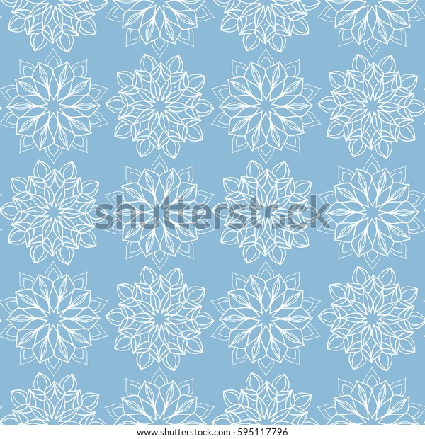 Seamless pattern with hand drawn flowers. Doodle  background