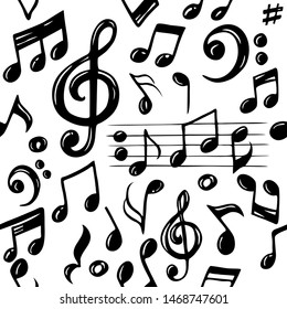 Music Notes Sketch Images, Stock Photos & Vectors | Shutterstock