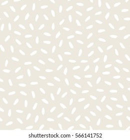 Seamless pattern with hand drawn shapes background. White beige texture. Random brush strokes. Geometric graphic design element. Scrapbook wallpaper. Vector illustration.