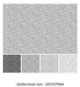 Seamless pattern of hand drawn sketches rough crosshatching grunge texture. Texture has four different shades. vector illustration