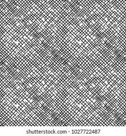 Seamless pattern of hand drawn sketches rough cross hatching grunge texture.