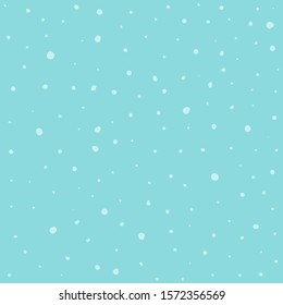 Seamless pattern hand drawn white snow flakes on blue, simple winter background. design for holiday greeting cards and invitations of the Merry Christmas and Happy New Year, winter holidays.