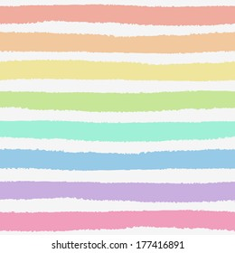 Seamless pattern with hand painted brush strokes, striped background. Vector illustration