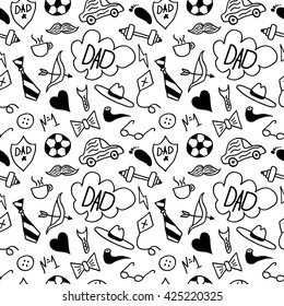 Seamless pattern for Happy Fathers day