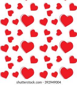 Seamless pattern in a heart
