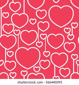 Seamless pattern with heart. vector background. Holiday texture. pattern for Happy Valentine's Day