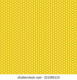 Seamless pattern of the hexagon honeycombs