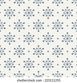 seamless pattern. holiday. snowflake