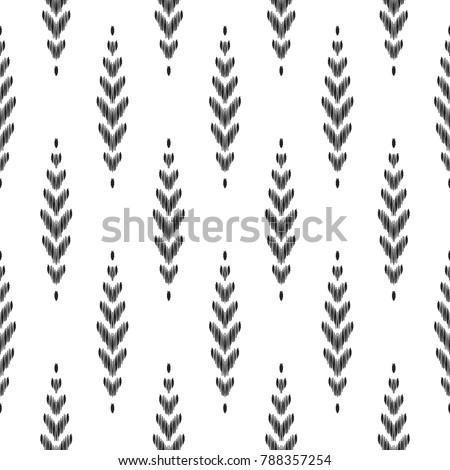 Seamless Pattern For Home Decor Ideas. Ikat Chevron Wallpaper. Ethnic,  Indian, Aztec