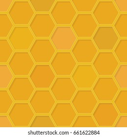 Seamless pattern with honeycomb