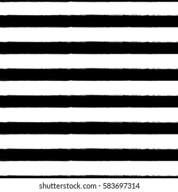 Seamless pattern with horizontal line. Black and white design.