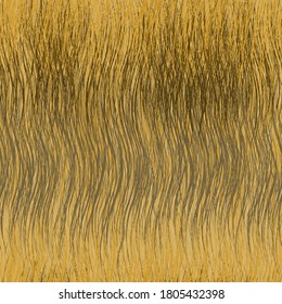Seamless pattern with horizontal  stripes of abstract grunge wavy dry grass in yellow, brown, grey colors