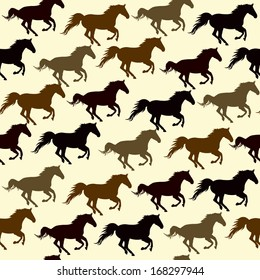 Seamless pattern with horse/ pattern with symbol of year