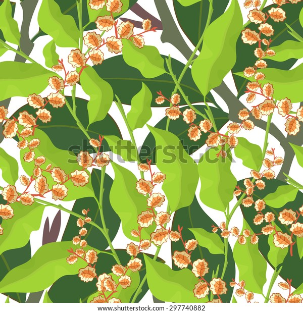 Seamless Pattern Houseplantshouse Junglerainforest Tropical ... on
